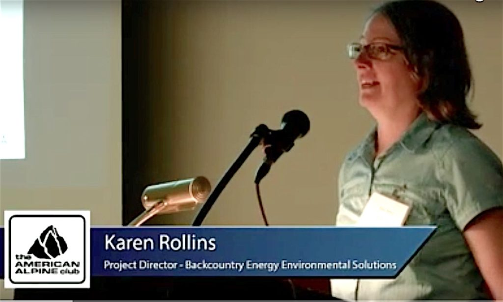Karen Rollins presenting to Sustainable Summits 2014.