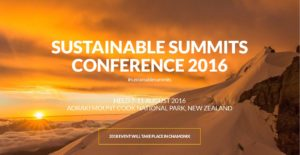 2016 Sustainable Summits Conference in New Zealand.