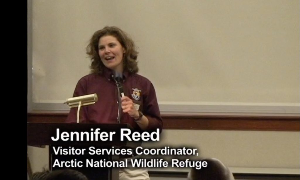 Jennifer Reed speaking about the Arctic National Wildlife Refuge in Alaska.