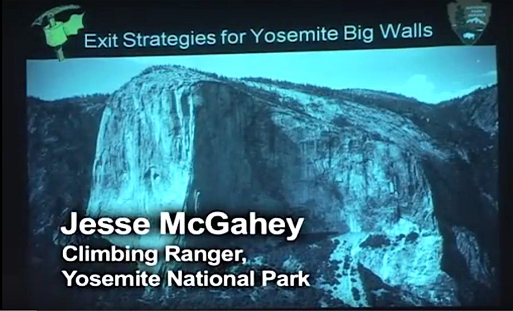 Jesse McGahey presented to Exit Strategies on human waste management on Yosemite's big walls.