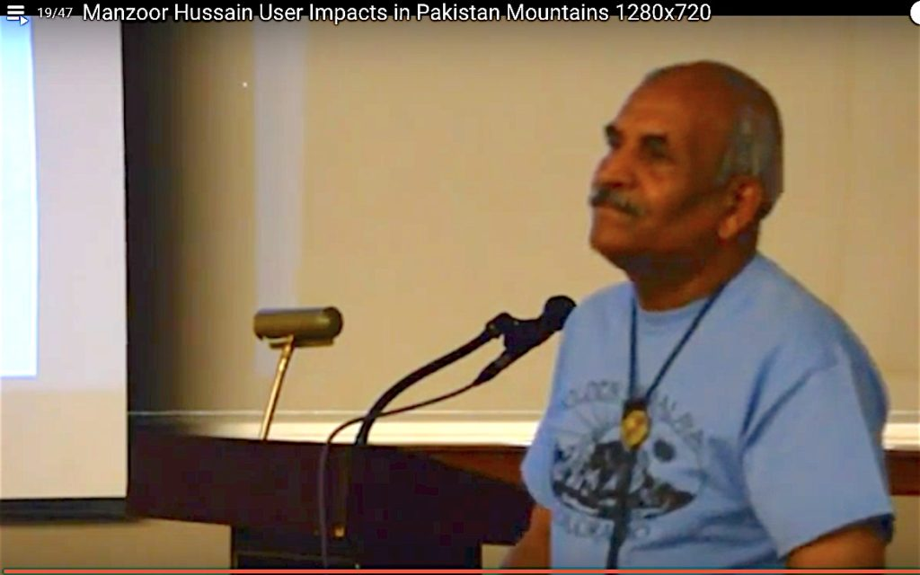 Manzoor Hussain addressing Sustainable Summits 2014.