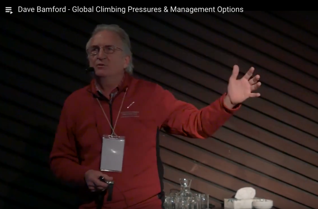 Dave Bamford - Global Climbing Pressures & Management Options