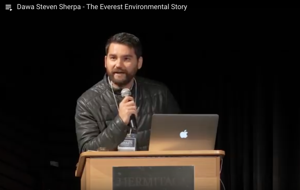 Dawa Steven Sherpa - The Everest Environmental Story