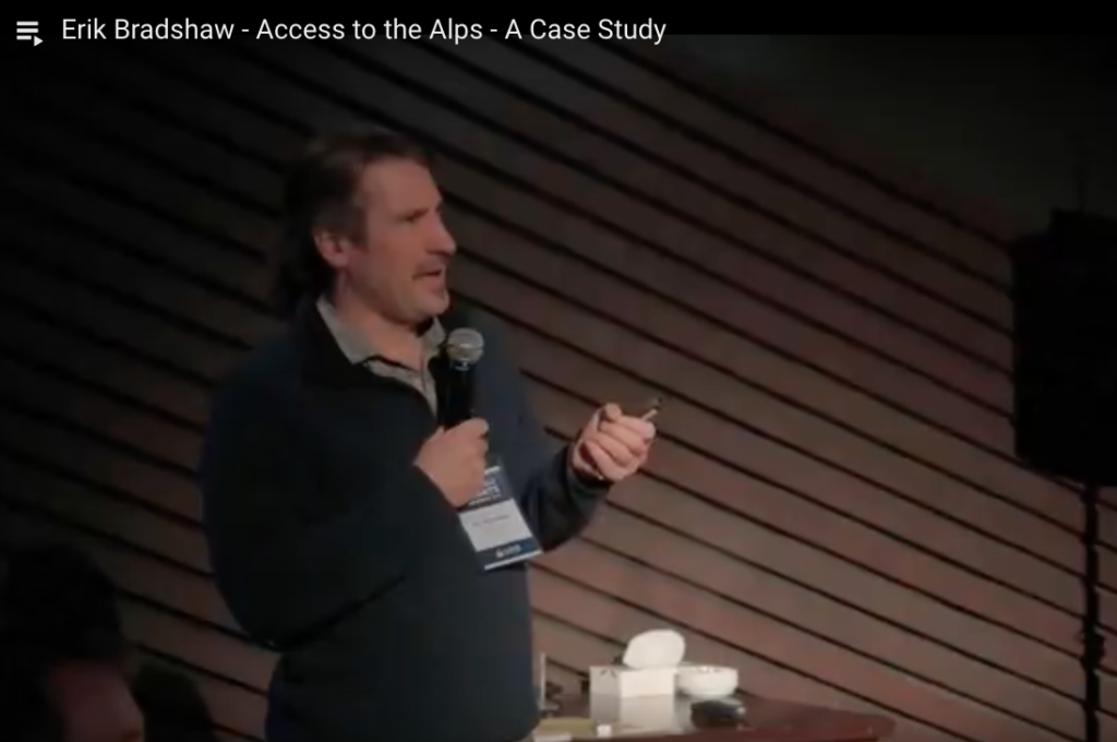 Erik Bradshaw - Access to the Alps - A Case Study