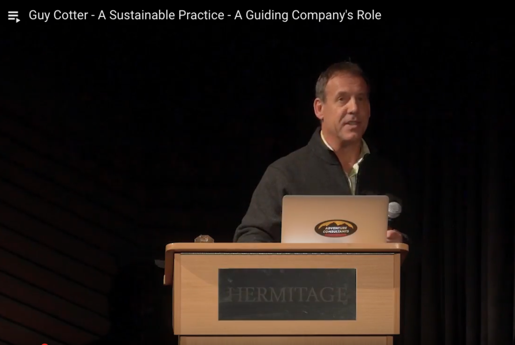 Guy Cotter - A Sustainable Practice - A Guiding Company's Role