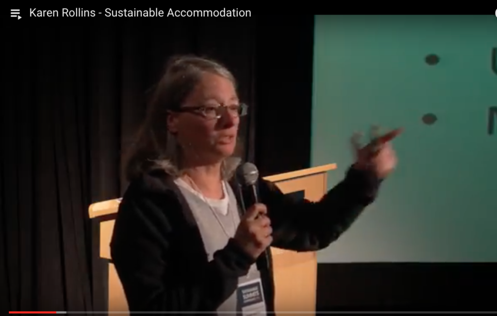 Karen Rollins - Sustainable Accommodation