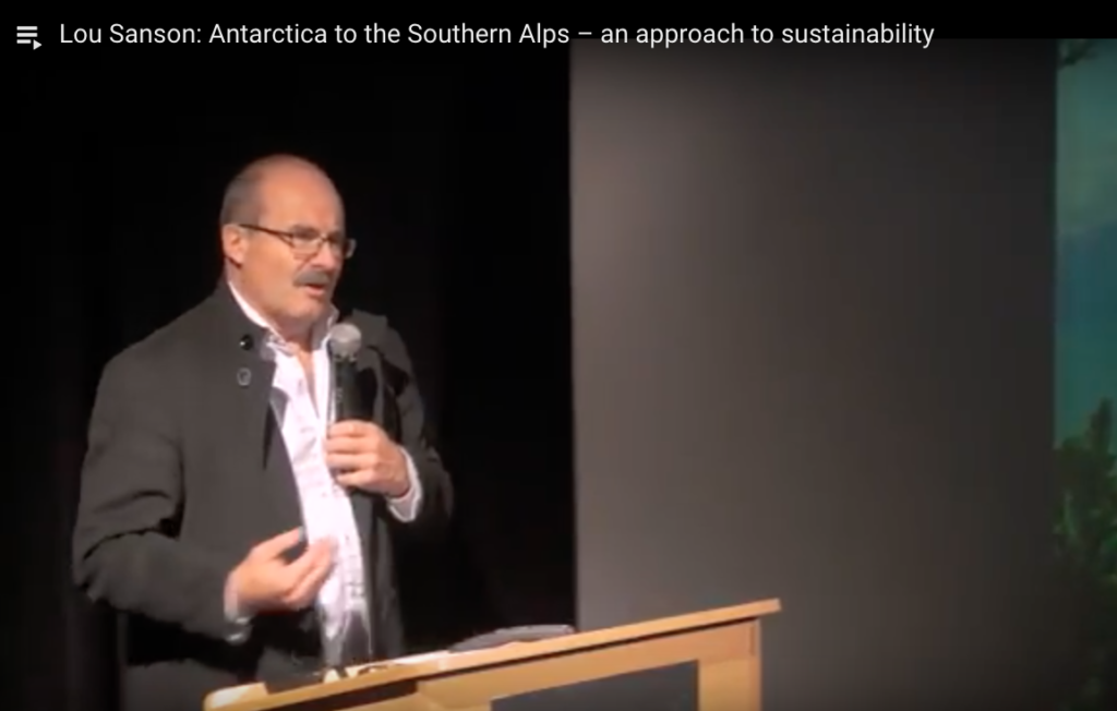 Lou Sanson - Antarctica to the Southern Alps – an approach to sustainability