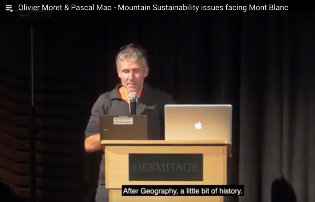 Olivier Moret & Pascal Mao - Mountain Sustainability issues facing Mont Blanc