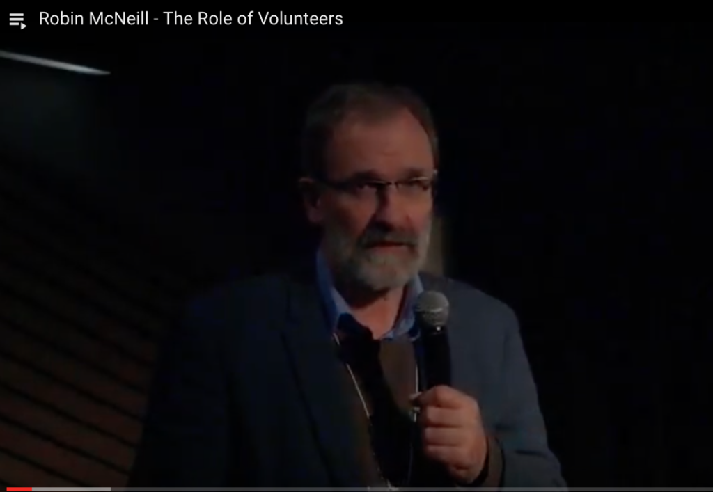 Robin McNeill - The Role of Volunteers