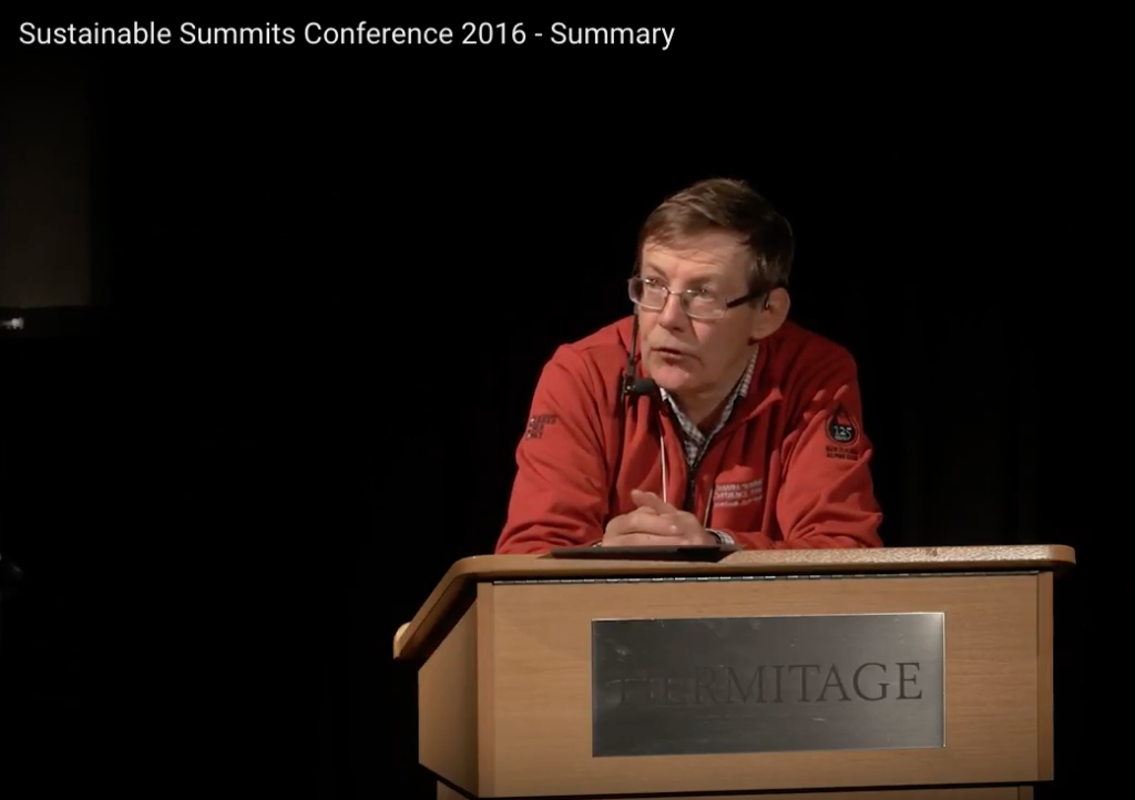Sustainable Summits Conference 2016 - Summary by Hugh Logan